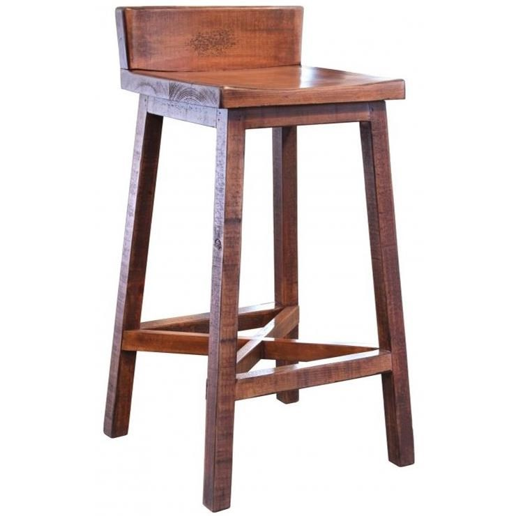 Pueblo Bar Stool by International Furniture Direct at Catalog Outlet