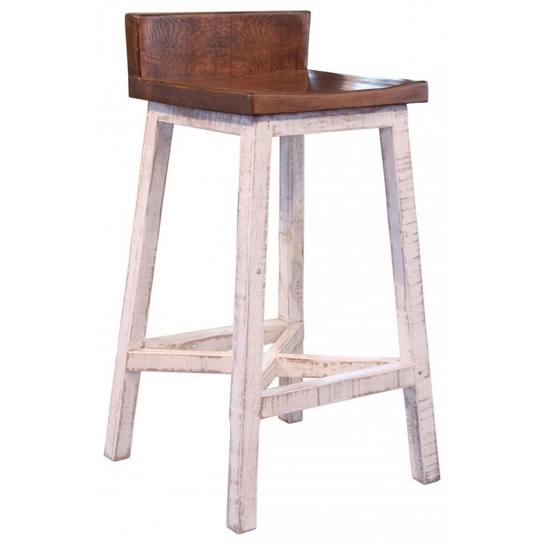 Pueblo Bar Stool by International Furniture Direct at Furniture Superstore - Rochester, MN