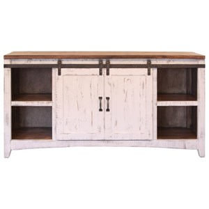 Console Table with Sliding Doors
