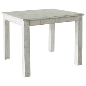 "Rustic 42"" Counter Table with Distressed Finish"
