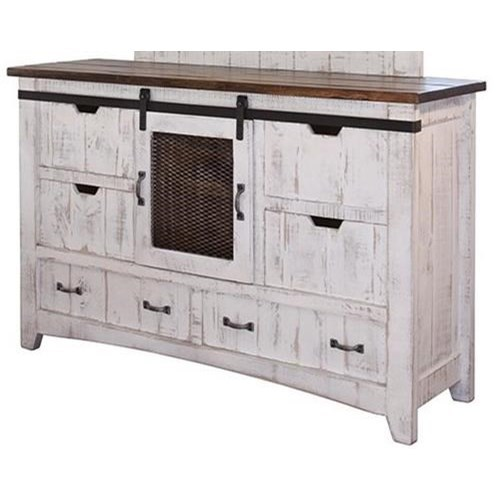 Pueblo Dresser by International Furniture Direct at VanDrie Home Furnishings