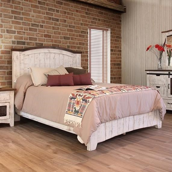 Pueblo Queen Bed by International Furniture Direct at VanDrie Home Furnishings