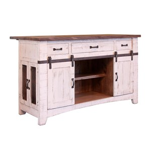 International Furniture Direct Pueblo Kitchen Island