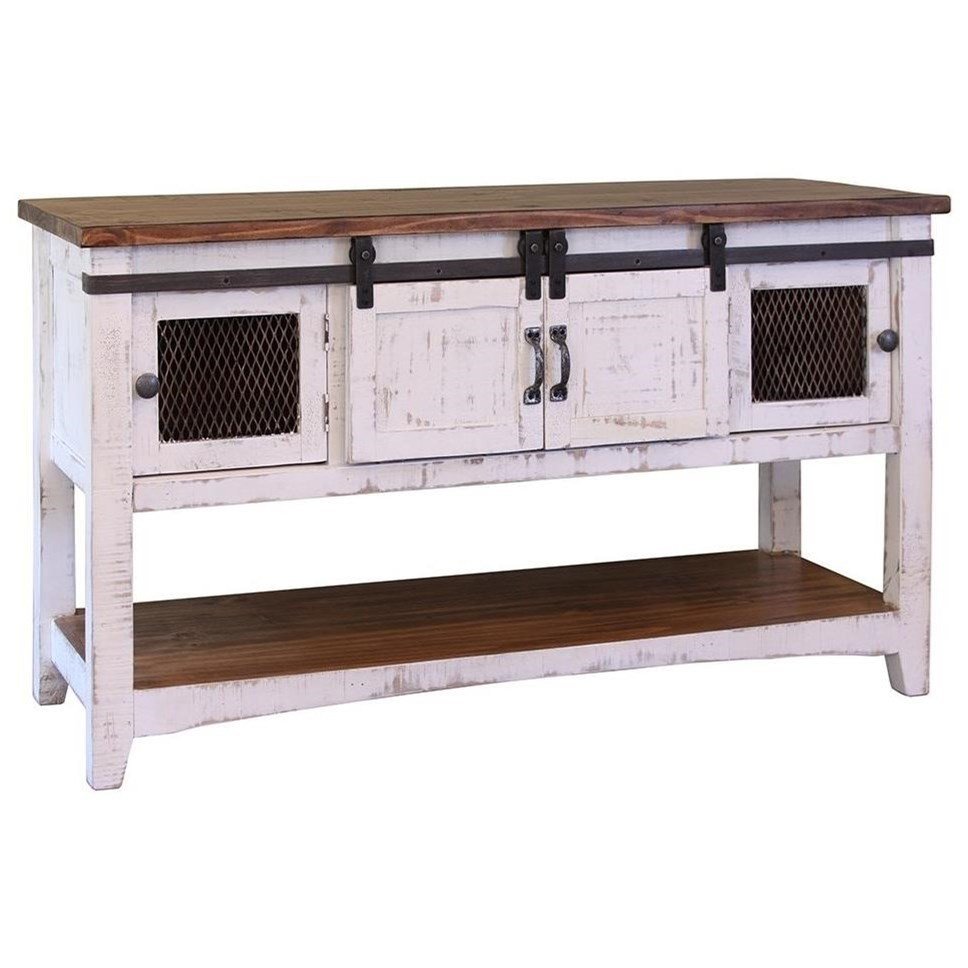 Pueblo Sofa Table by International Furniture Direct at Catalog Outlet