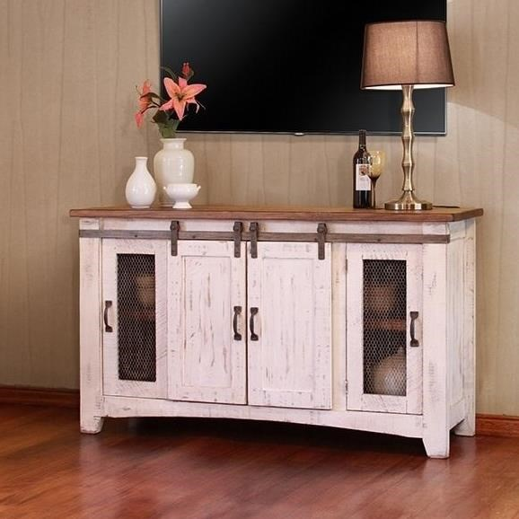 "Pueblo 60"" TV Stand by International Furniture Direct at Furniture Superstore - Rochester, MN"