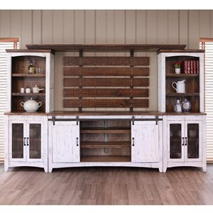 Wall Unit with Distressed Finish