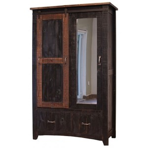 Armoire with Sliding Door and Mirror