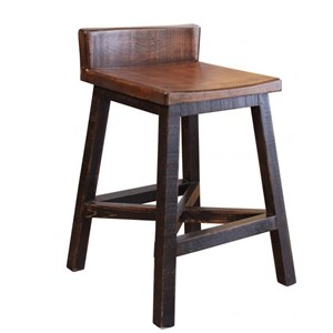 """24"""" Counter Height Stool with Low Back"""