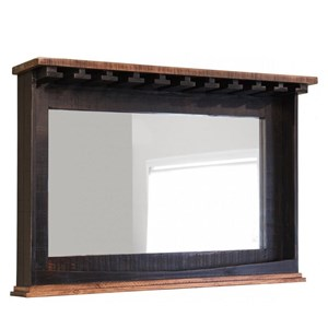 Mirror Bar with Glass Holders & Shelf