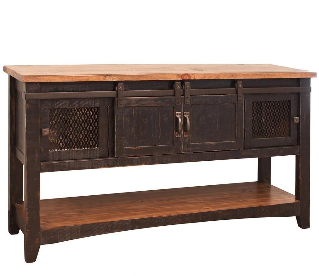 Pueblo Sofa Table by International Furniture Direct at Goffena Furniture & Mattress Center