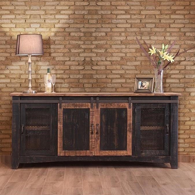 "Pueblo 80"" TV Stand  by International Furniture Direct at Catalog Outlet"
