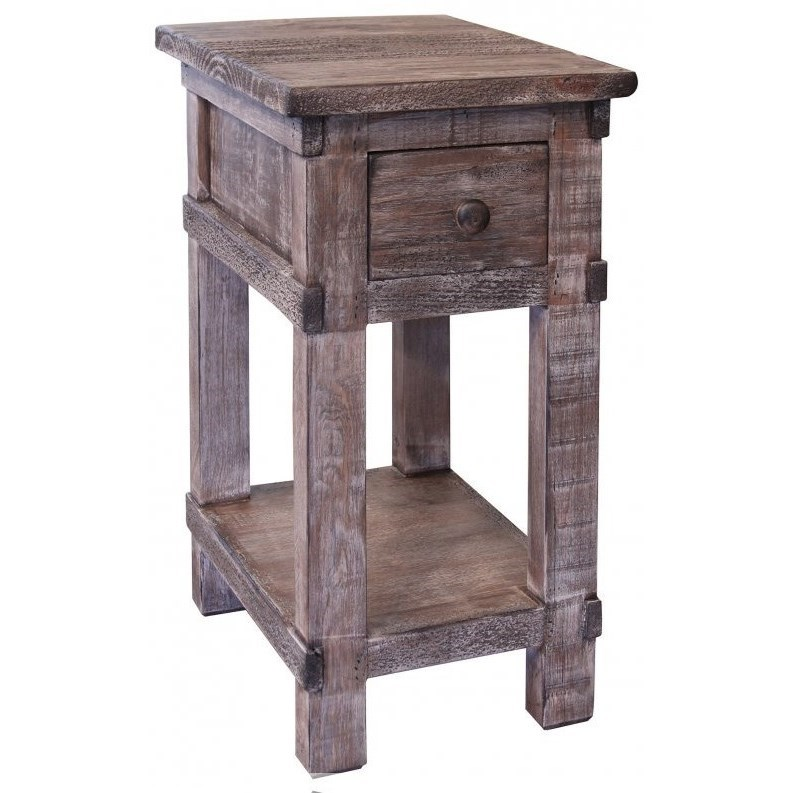 San Angelo 1 Drawer Chairside Table by International Furniture Direct at Wilson's Furniture