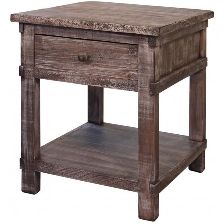 San Angelo End Table by International Furniture Direct at Miller Home