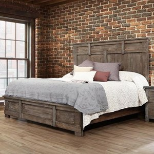Rustic Solid Wood King Low Profile Bed