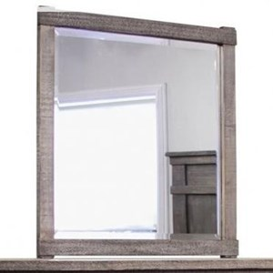 Rustic Mirror with Solid Wood Frame
