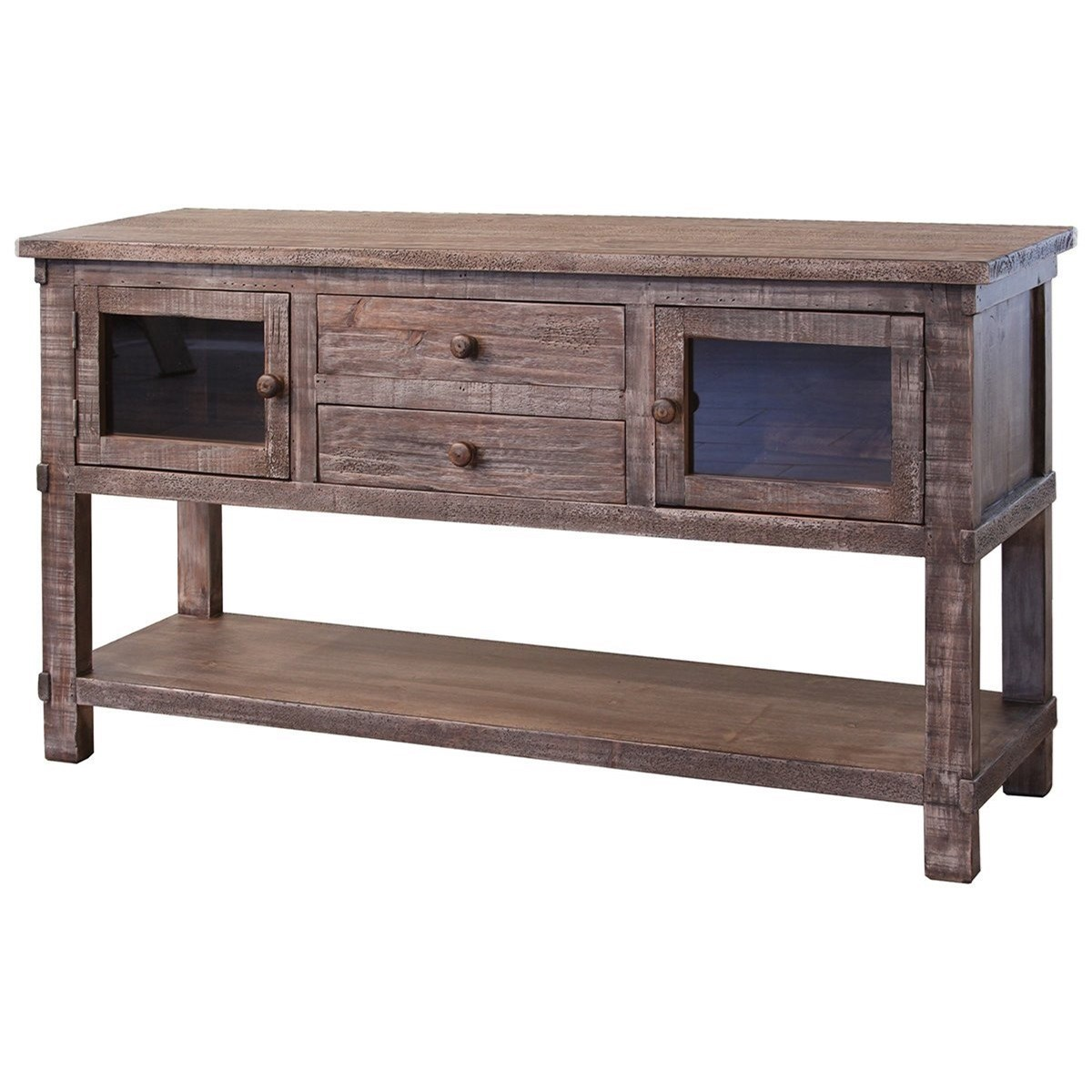 San Angelo 2 Drawer 2 Door Sofa Table by International Furniture Direct at Wilson's Furniture