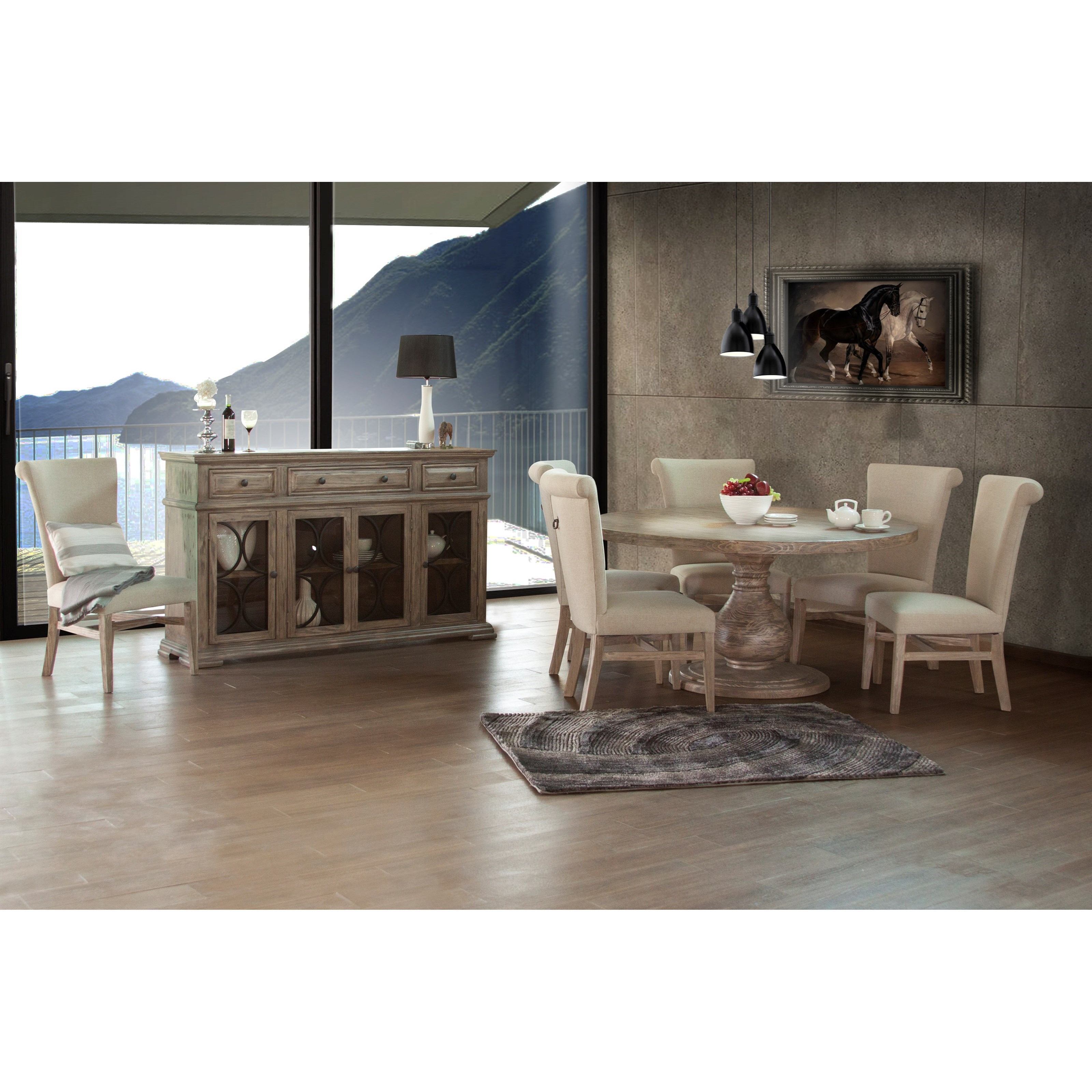 Bonanza Sand Casual Dining Room Group by International Furniture Direct at Furniture Superstore - Rochester, MN