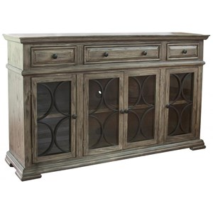 4 Door Sideboard with 3 Drawers