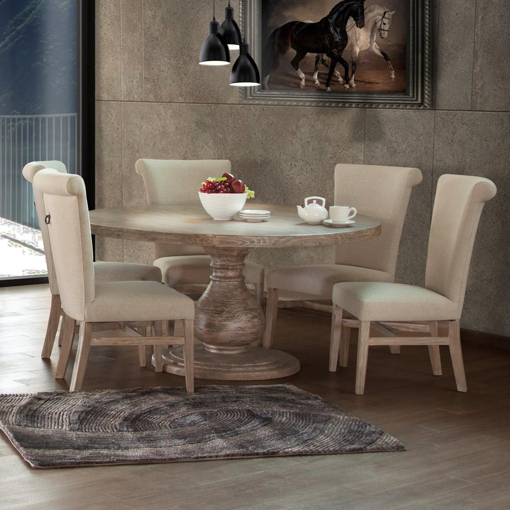 Bonanza Sand 6 Piece Table and Chair Set by International Furniture Direct at Furniture Superstore - Rochester, MN