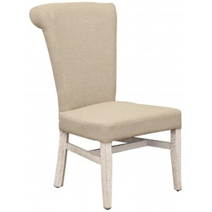 Upholstered Side chair with Handle on Back Rest