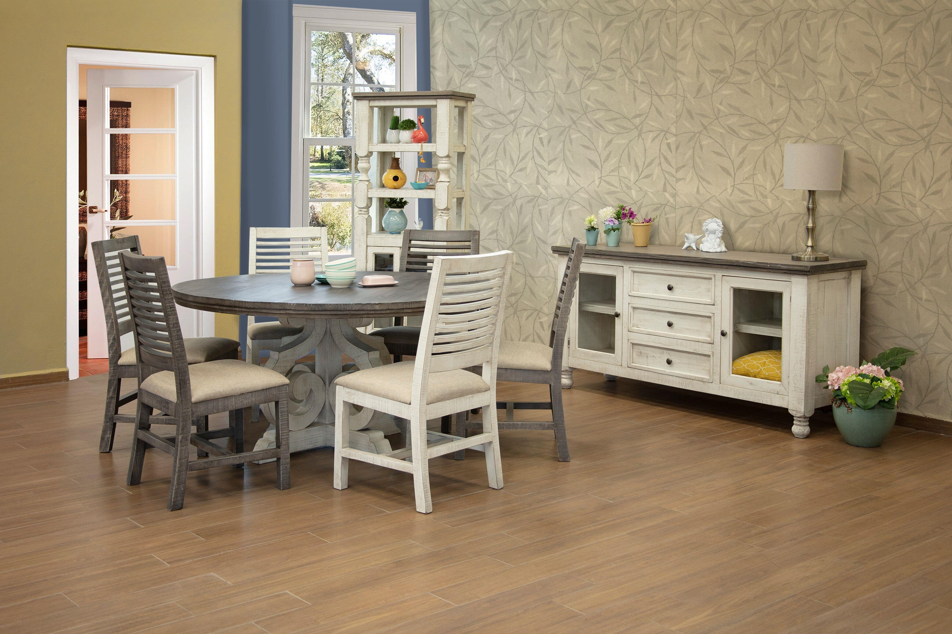 Stone 7 PC Dining Room Set by International Furniture Direct at Sam Levitz Outlet