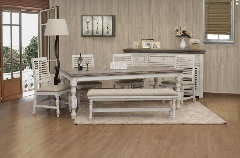 Stone Rectangle Dining Table and 4 Chairs by International Furniture Direct at Johnny Janosik