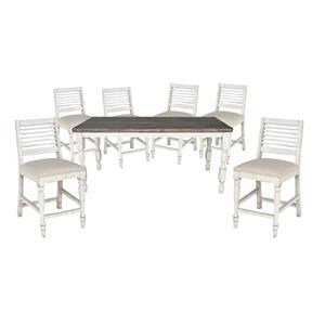 Counter Height Table and 6 Stools
