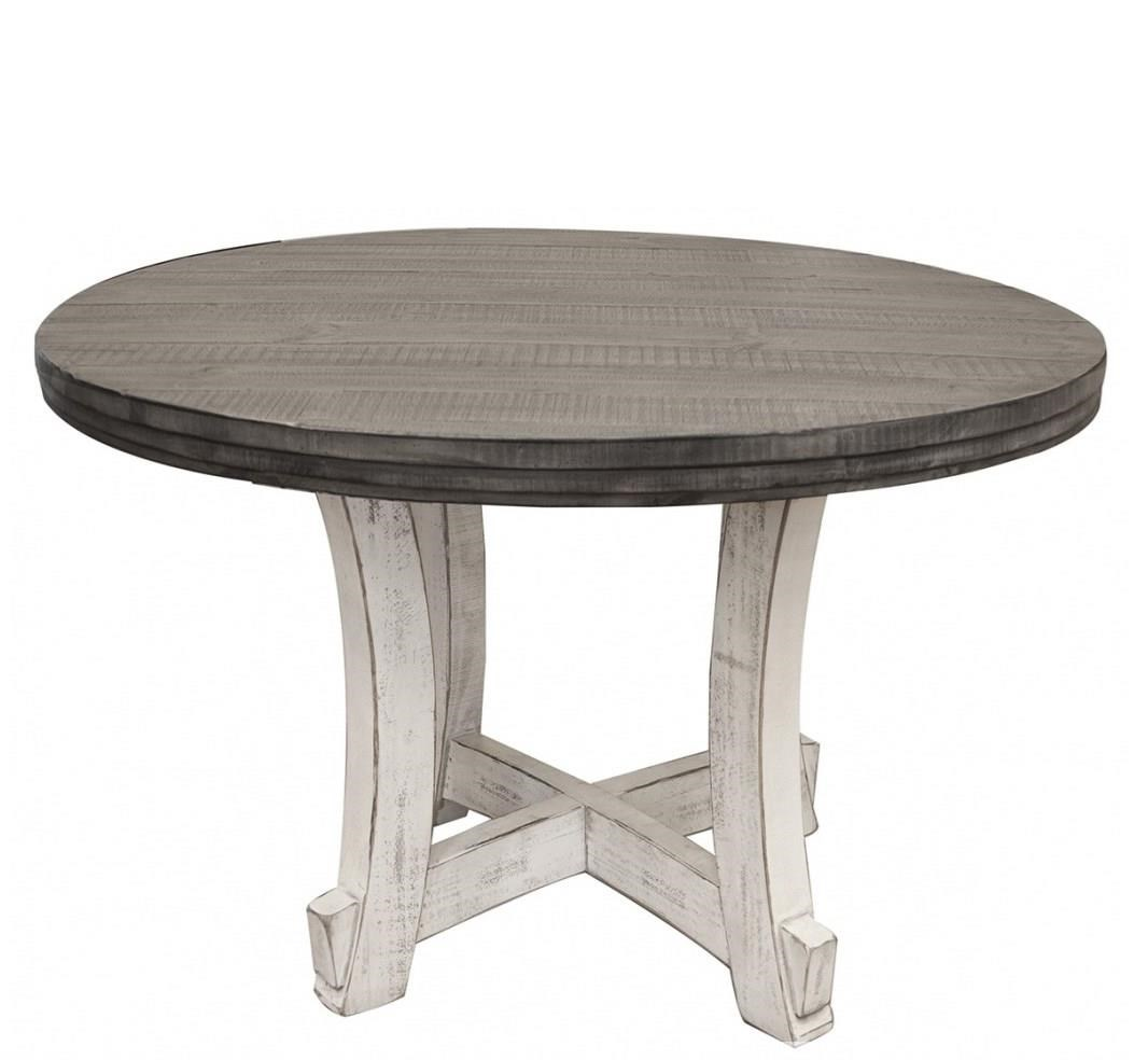 Stone Round Table by International Furniture Direct at Turk Furniture