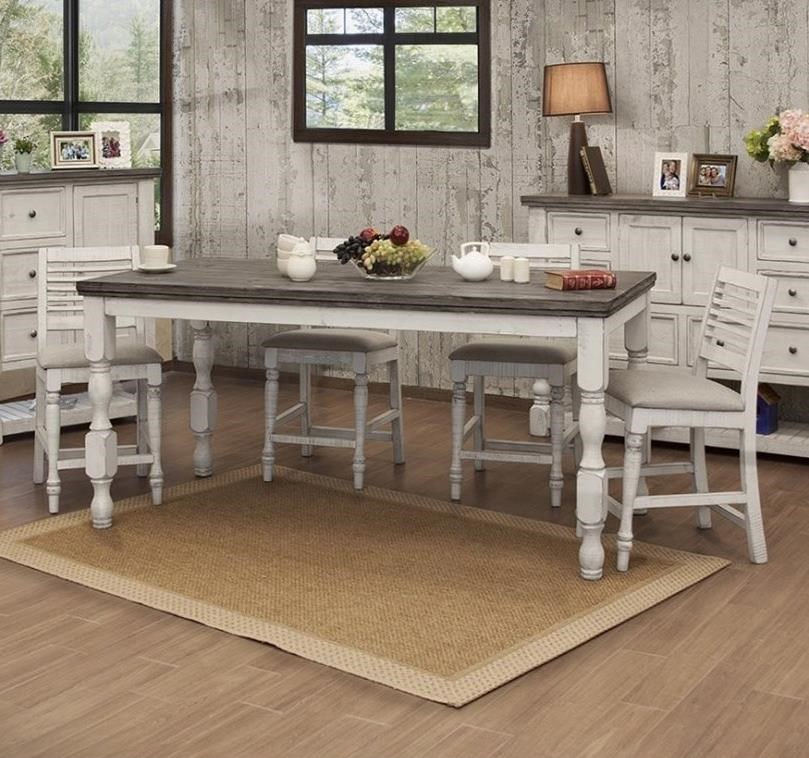 Stone 5-Piece Counter Height Table and Chair Set by VFM Signature at Virginia Furniture Market