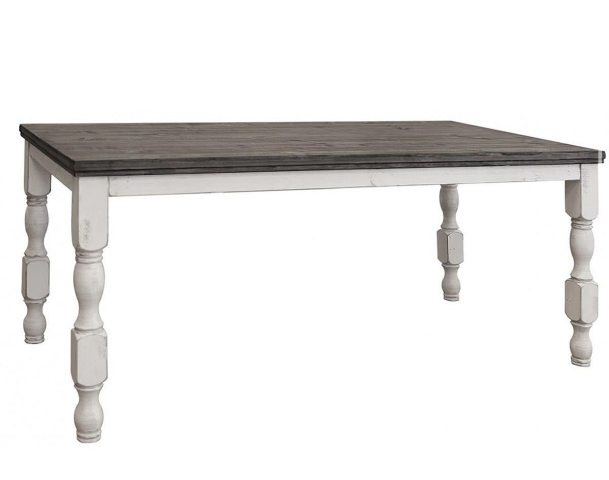 Stone Counter Table with Turned Legs at Williams & Kay