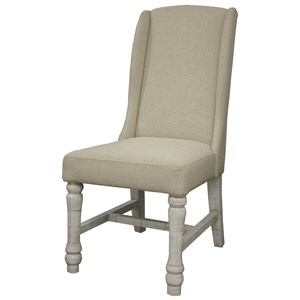 Relaxed Vintage Upholstered Chair with Ivory Finish