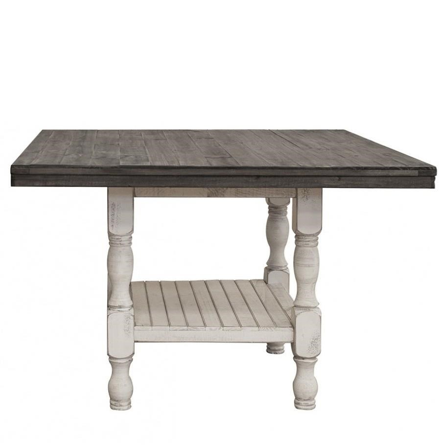 Stone Square Gathering Height Table by International Furniture Direct at Furniture Superstore - Rochester, MN