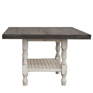 Relaxed Vintage Square Gathering Height Table with Storage
