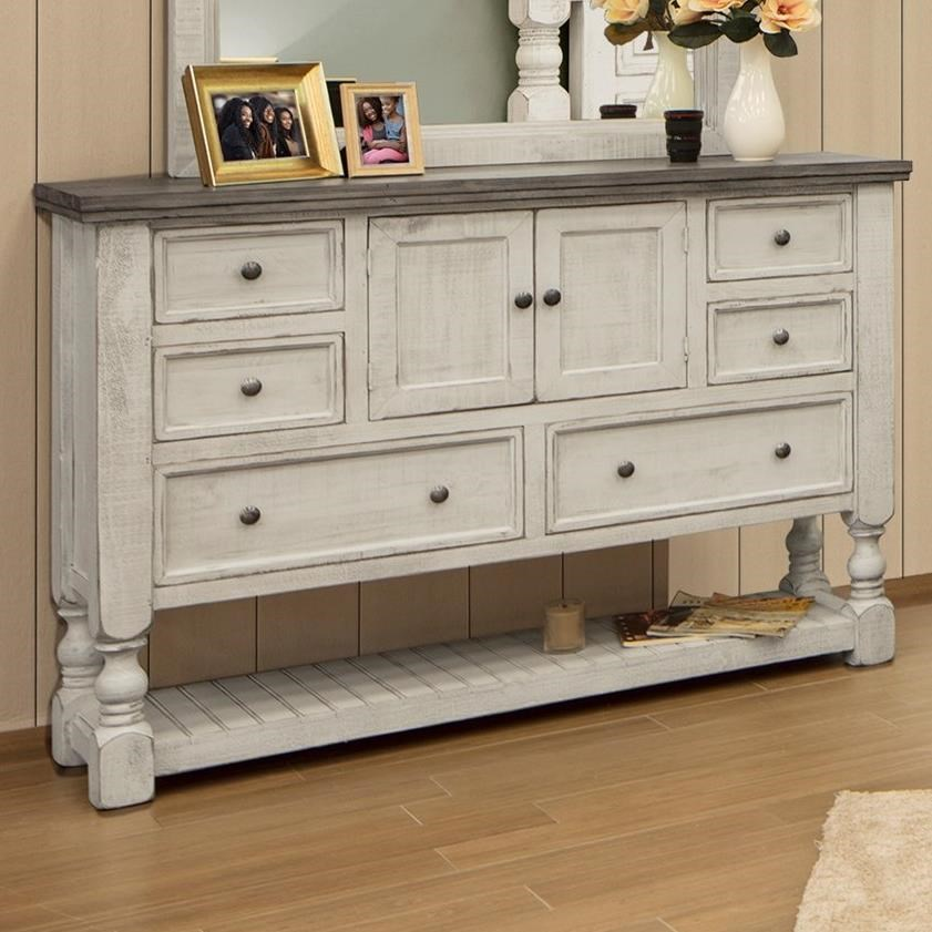 Stone Dresser by International Furniture Direct at Michael Alan Furniture & Design