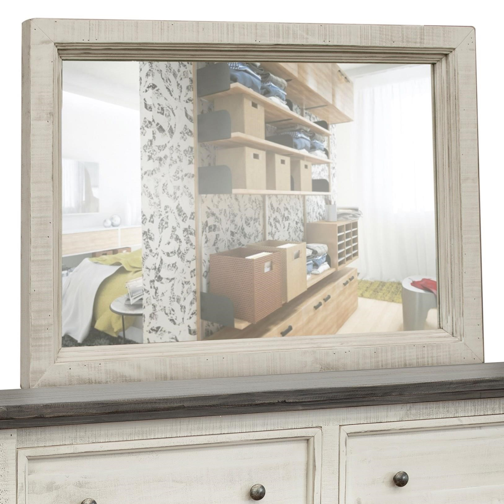 Stone Dresser Mirror by International Furniture Direct at Furniture Superstore - Rochester, MN