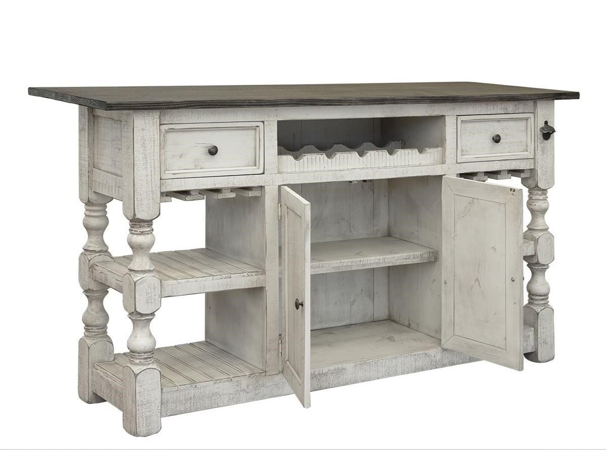 Stone Bar with 2 Drawers and 2 Doors by International Furniture Direct at Darvin Furniture