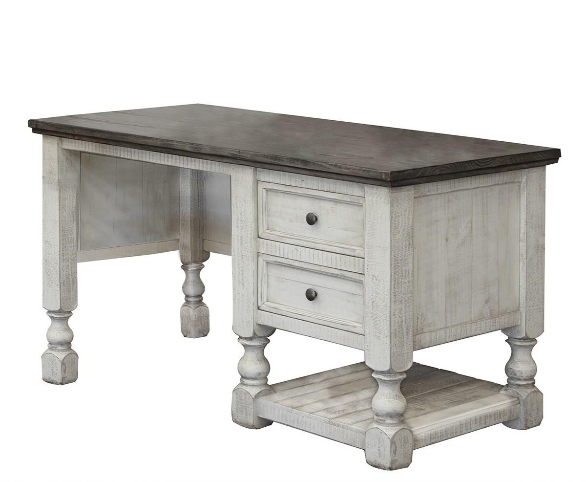 Stone Desk with 2 Drawers and 1 Shelf by International Furniture Direct at Catalog Outlet