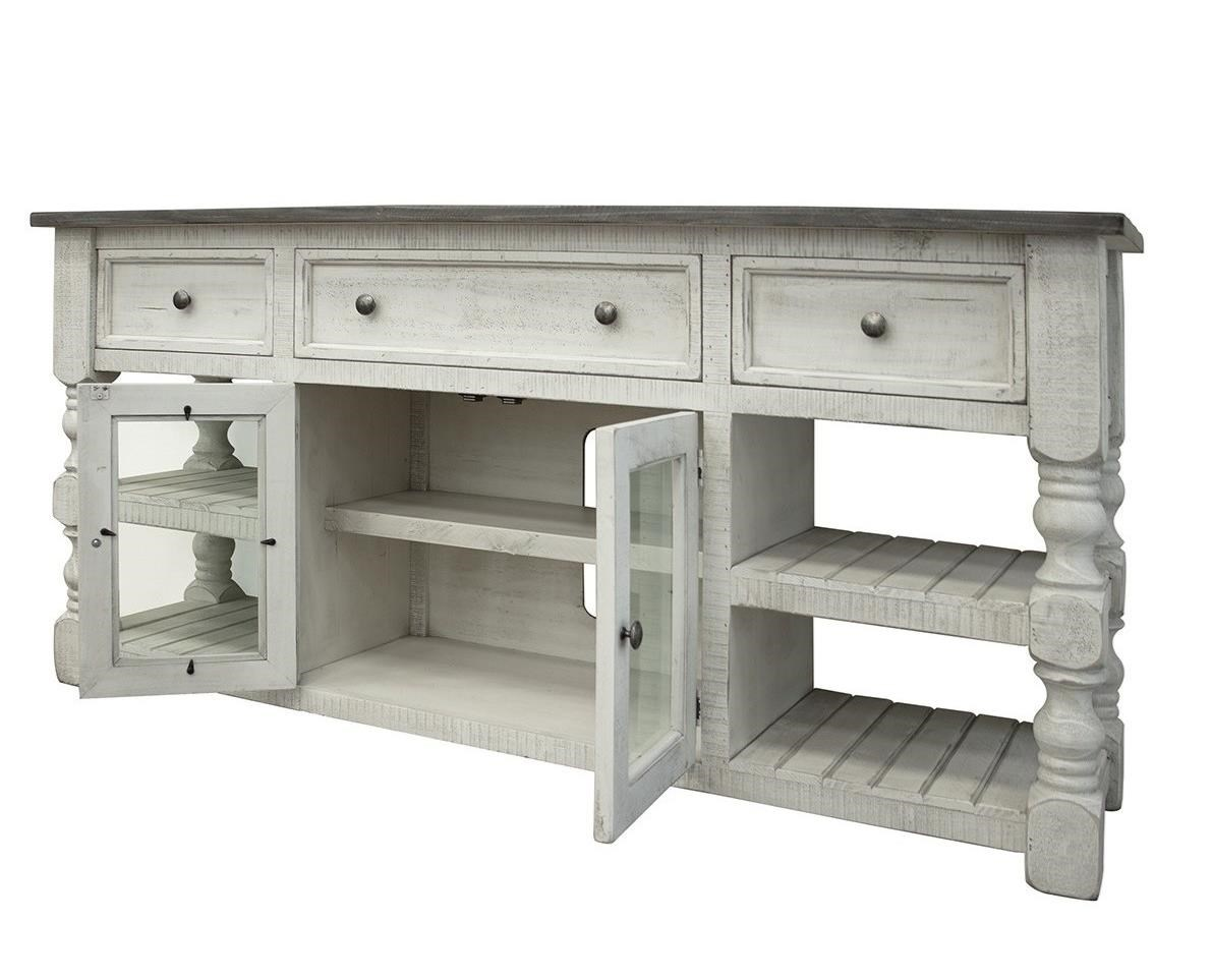 "Stone 70"" TV Stand by International Furniture Direct at Furniture Superstore - Rochester, MN"