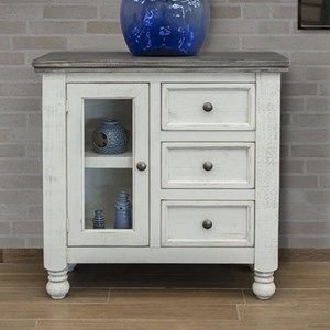 Relaxed Vintage Server with 3 Drawers and 1 Door