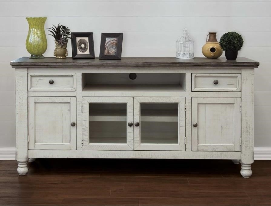 "Stone 70"" TV Stand by International Furniture Direct at VanDrie Home Furnishings"
