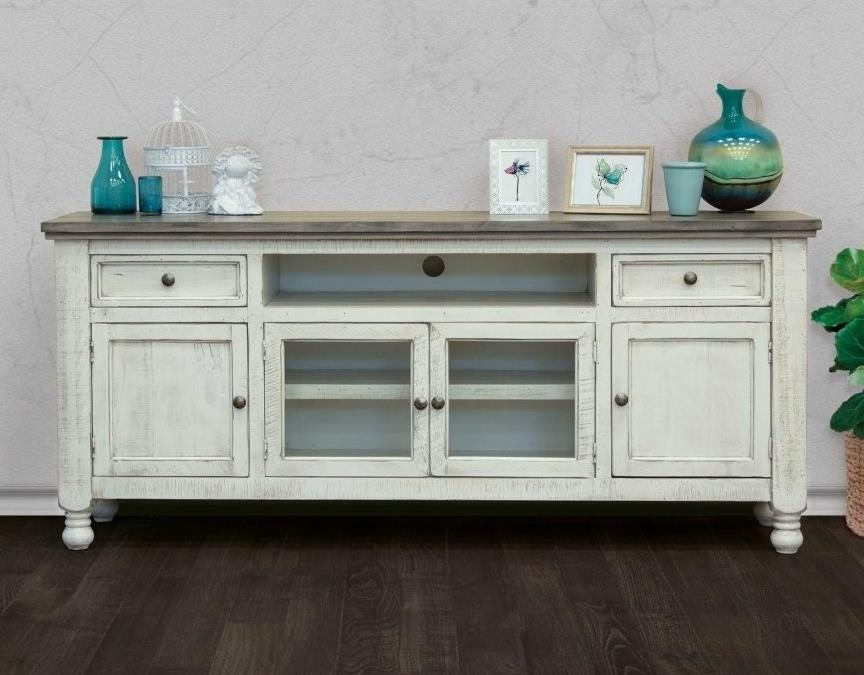 """Stone 80"""" TV Stand by International Furniture Direct at Sparks HomeStore"""