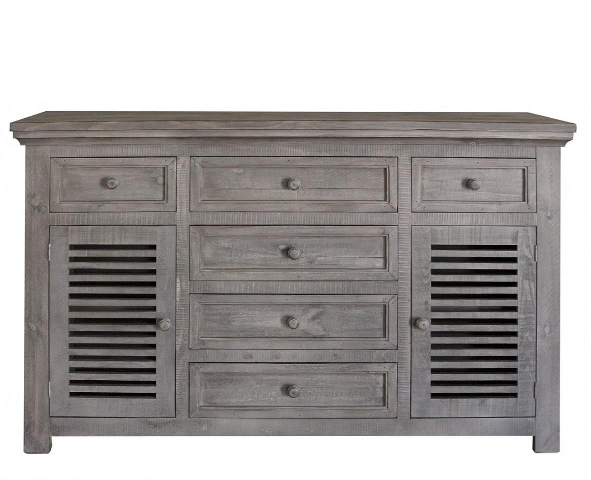 Stone Buffet by International Furniture Direct at Sparks HomeStore