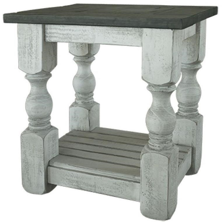 Stone Chair Side Table by International Furniture Direct at Catalog Outlet
