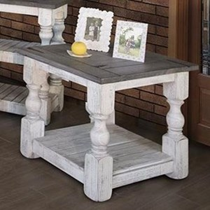Transitional Solid Wood End Table