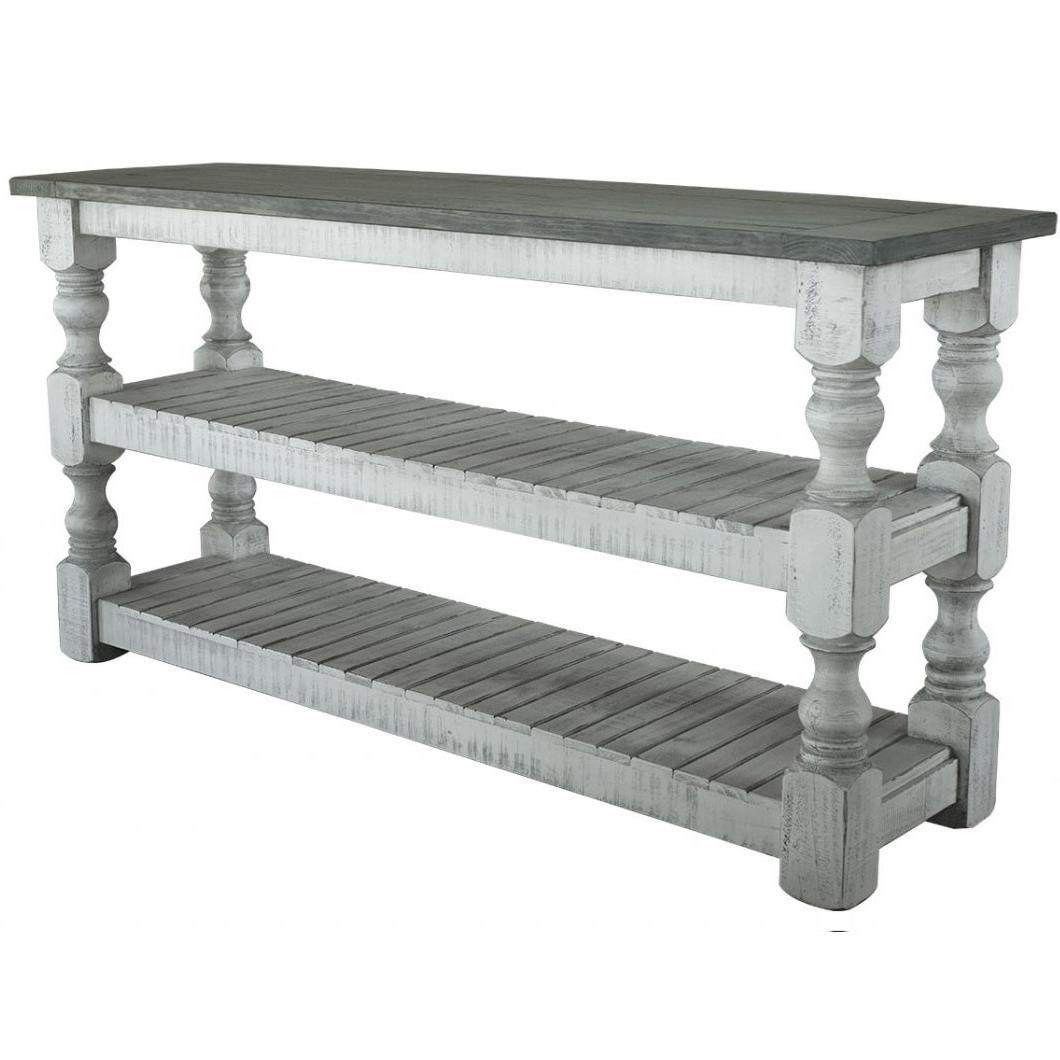 Stone Sofa Table by International Furniture Direct at Furniture Superstore - Rochester, MN