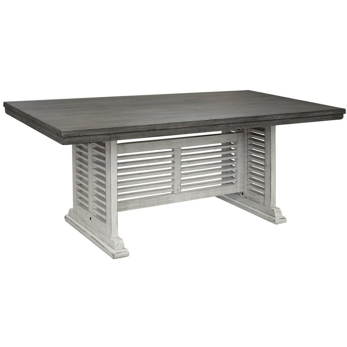 Stone Dining Table by International Furniture Direct at Catalog Outlet