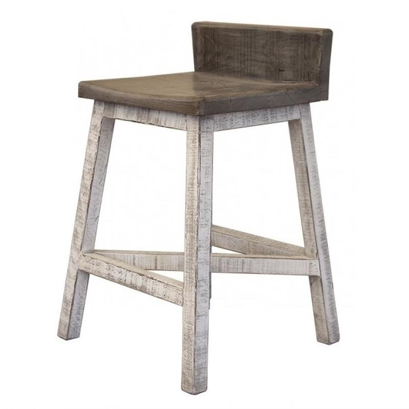 Stone Bar Stool by International Furniture Direct at Godby Home Furnishings