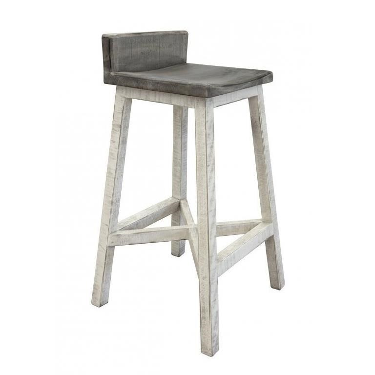 "Stone 30"" Stool with Wooden Seat and Base by International Furniture Direct at Turk Furniture"