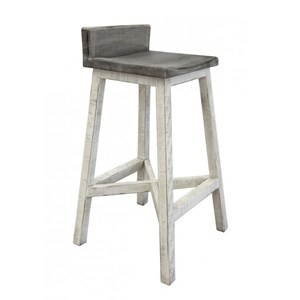 """30"""" Stool with Wooden Seat and Base"""
