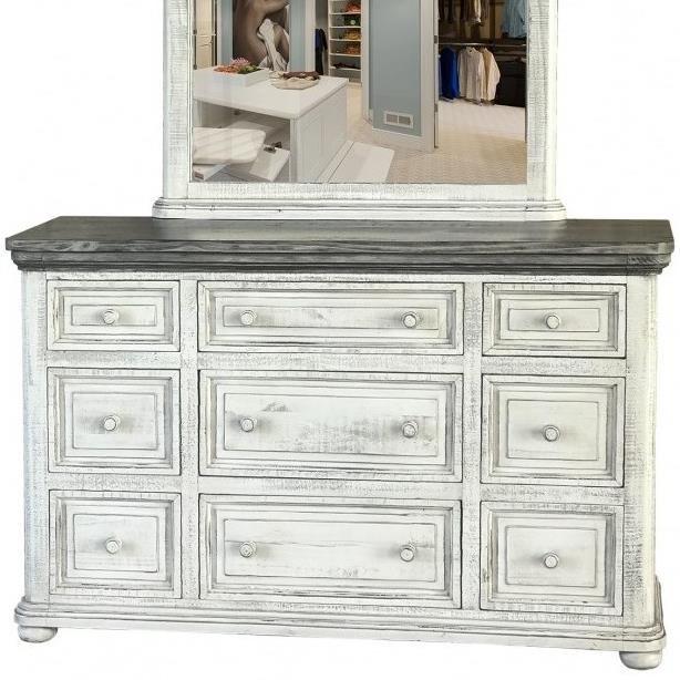 768 Luna 9 Drawer Dresser by International Furniture Direct at Furniture Superstore - Rochester, MN